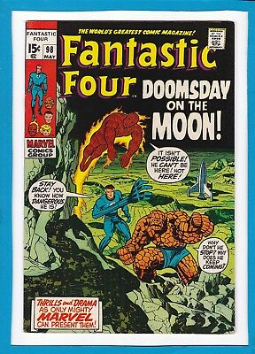 "Fantastic Four #98_May 1970_Very Fine_""doomsday On The Moon""_Bronze Age Marvel!"