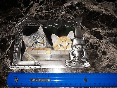 Metal cat picture frame