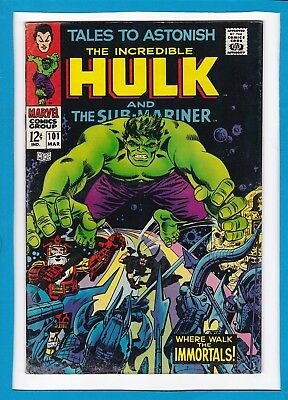 Tales To Astonish #101_March 1968_Vg-_Incredible Hulk_Sub-Mariner_Final Issue!