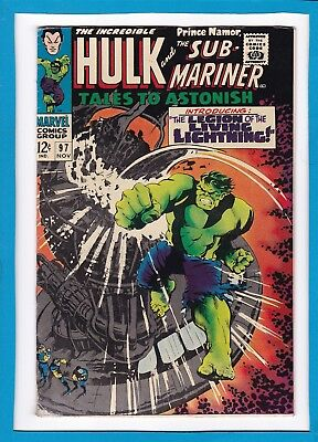 Tales To Astonish #97_Nov 1967_Very Good_Incredible Hulk_Sub-Mariner_Silver Age!