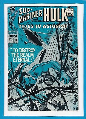 Tales To Astonish #98_Dec 1967_Very Fine_Incredible Hulk_Sub-Mariner_Silver Age!