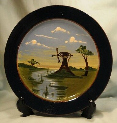 Aller Vale Windmill Large Plate, 260 mm diameter in good condition, a few light?