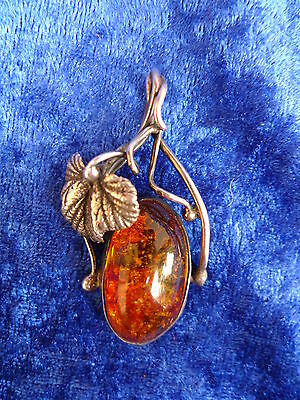 Beautiful, Ancient Pendants__Silver with Amber __5,4cm__