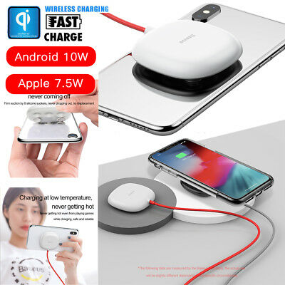 Baseus Suction Cup Wireless Fast Charging Pad Charger for iPhone XR XS Samsung