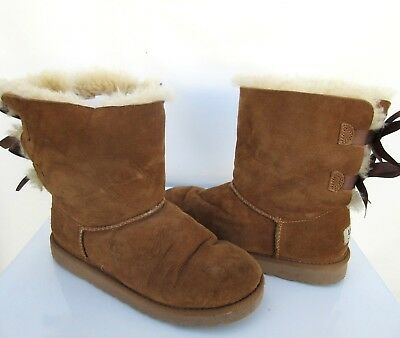 b5070d8a028 UGG WOMEN'S BAILEY Bow II Boots Suede Chestnut Brown 1016225