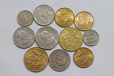 Kenya Currency Coins Mostly In High Grade A98 Wp27