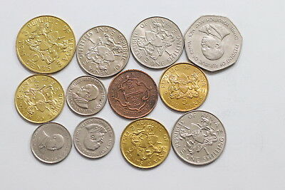 Kenya Currency Coins Mostly In High Grade A98 Wp26