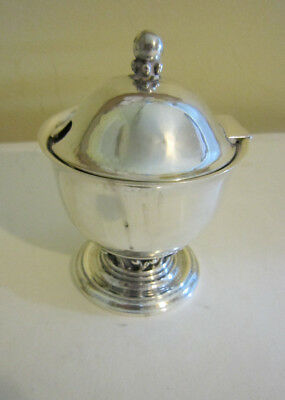 Early Georg Jensen Sterling Silver Condiment Jar #180 Denmark Louvre Design