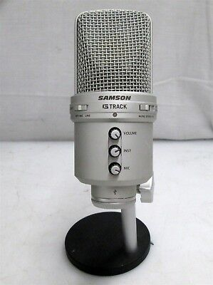 Samson G Track USB Condenser Microphone & Audio Interface w/ Stand | Powers ON