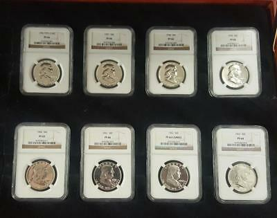 Huge Collection of Proof Franklin's Silver Half Dollar's NGC Certified 1956-1963