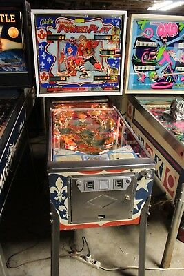 Bally Bobby Orr Power Play Pinball Machine Plays Great ( No Reserve )