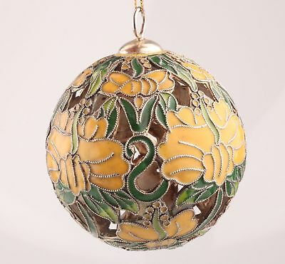 Old Cloisonne Hand-Carved Christmas Ball Statue Pendant Decoration Collection