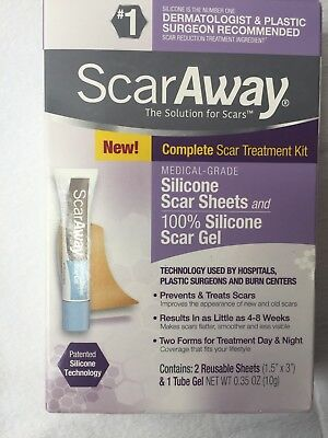 ScarAway The Solution For Scars Cont: 2 Reusable Sheets And 1 Tube Gel