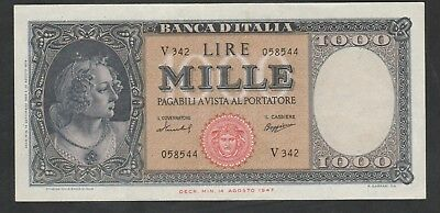 1000 Lire From Italy 1959 Strong XF