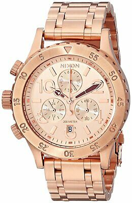 df01b4247 Nixon Women's 38-20 Rose Gold Stainless Steel Chronograph Watch A404-1044