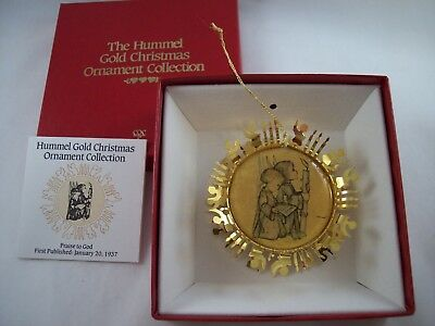Hummel Gold Christmas Ornament Collection 80's Double Sided Praise To God # 11