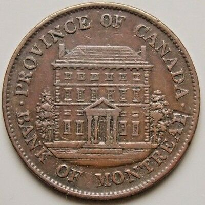1844 PC-1B4  Province Of Canada Colonial Canadian Bank Of Montreal Token