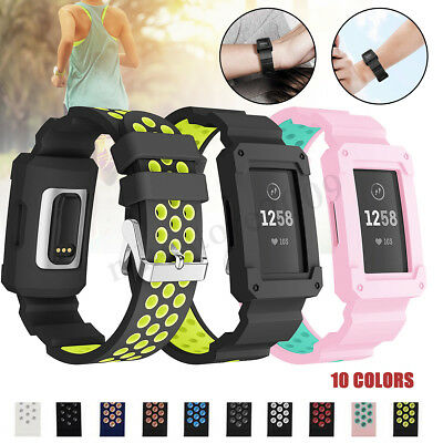For Fitbit Charge 3 Replacement Silicone Bracelet Wrist Watch Band Strap Fitness