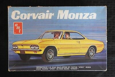AMT 1969 CHEVY CORVAIR MONZA YENKO STINGER 3in1 VINTAGE SCCA MODEL CAR KIT w/BOX