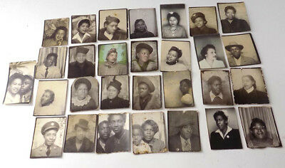 29  Small Photo Booth / Arcade Photos of African Americans 30's-40's