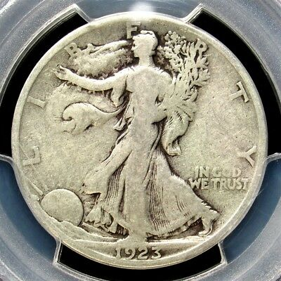 1923-S Walking Liberty Half Dollar - PCGS VG08 - Certified Very Good Key Date