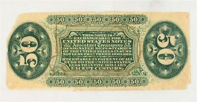 FR. 1358 US 3rd Issue 50 Cent Fractional Specimen - Crisp Net XF - Green Reverse