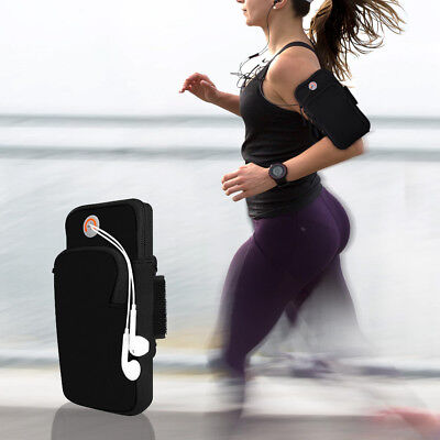 Black Sport Armband Running Jogging Gym Arm Band Pouch Holder Bag For Cell Phone