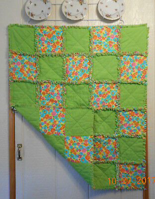"""Finished """"Rag"""" Baby Quilt  32"""" X 39"""""""