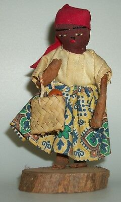 Vintage Small African Girl Doll Figure
