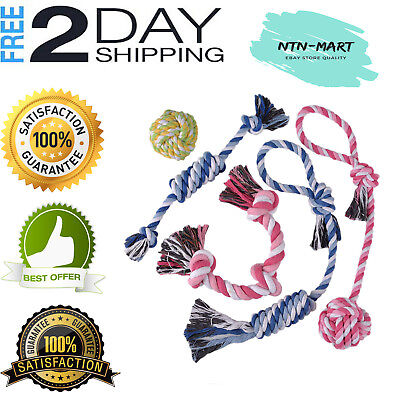 Dog Rope Toys Cotton Chew Toys for Puppy Small Dogs Value Pack 100% Safe