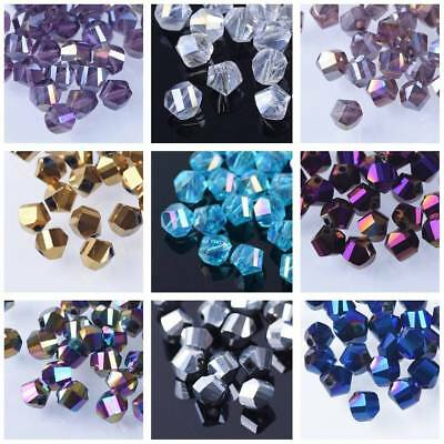 50pcs Faceted Glass Crystal DIY Findings Helix/Twist Loose Spacer Beads 6mm NEW