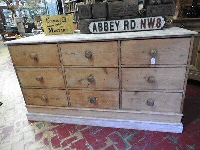 Wonderful Antique Counter From Store Large Dresser French Lacquered Period