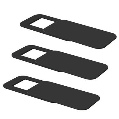 3 Pcs Webcam Cover Slider Camera Protect For Phone Laptop PC Mac Tablet Black HQ