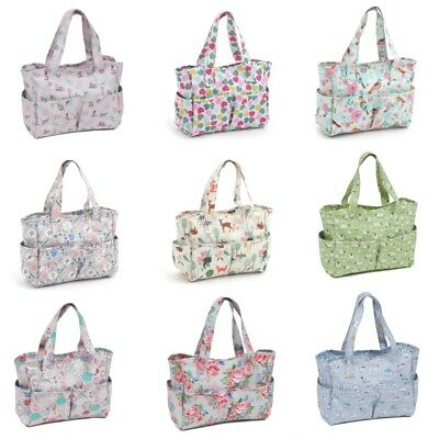 Hobby Gift Craft Bag Storage Matt PVC Sewing Knitting Crochet Shopping Handbag