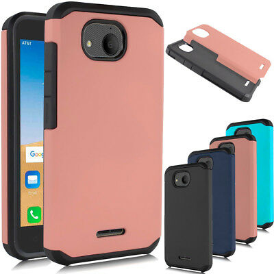Hybrid Shockproof Hard Armor Cover Rubber Slim Back Phone Case For Alcatel Tetra
