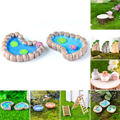 Miniature Fairy Garden Ornament Decor Pot DIY Crafts Accessories Dollhouse New