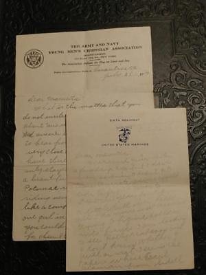 0642----William Rice WWI letters -- Sidell Township IL - to sweetheart Mauretta