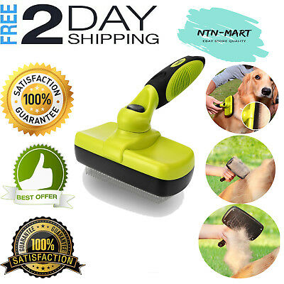 Pet Brush Self Cleaning Slicker Brush for pet Grooming Effective Removes 90%dead