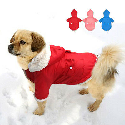 Pet Warm Padded Dog Coat Jacket Chihuahua Winter Clothing Cat Puppy Hoodie CHW