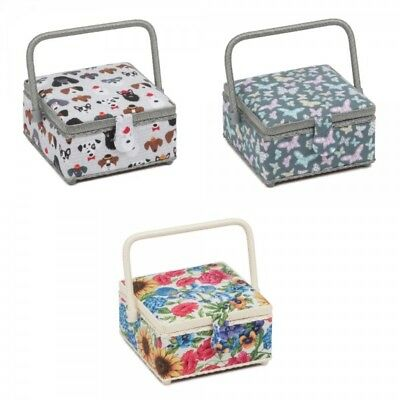 Small Square Sewing Box Basket Classic Collection Craft Storage Hobbygift