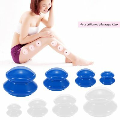 4Pcs Moisture Absorber Anti Cellulite Vacuum Cupping Cup Body Massage