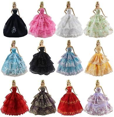 6pcs Handmade Clothes  Princess Wedding Party Dress for 11.5 inch Girl Doll