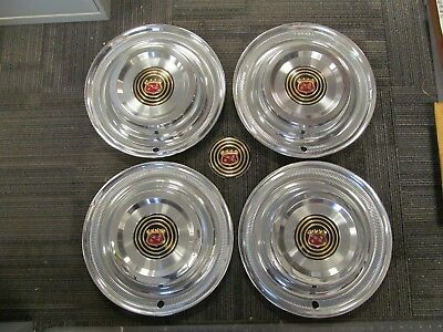 1958 Buick Roadmaster Limited Used 15 Inch Hubcap Wheel Cover Set (4)