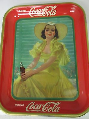 Authentic Coke Coca Cola 1938  Advertising Serving Tin Tray 717-M