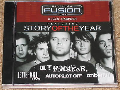 NINTENDO FUSION SAMPLER PROMO CD! Story Of The Year My Chemical Romance  Anberlin