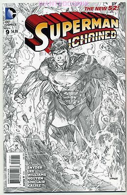 Superman Unchained #9 1:100 Jim Lee Sketch Variant Cover Scott Snyder New 1