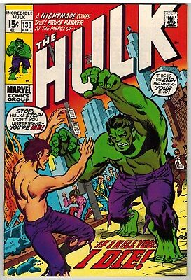Incredible Hulk #130 1970 Marvel Bronze Age!