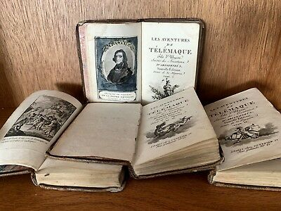 1796 THE ADVENTURES OF TELEMACHUS Complete Luxury Edition with 30 engravings