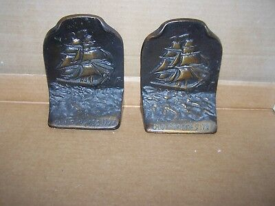 Antique Old Ironsides at Sea Bookends - thought to be 1920's