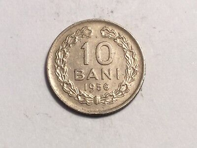 ROMANIA 1956 10 Bani coin About uncirculated